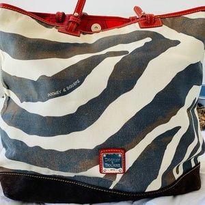 Dooney & Bourke Vintage Zebra Print Tote